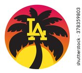 los angeles typography for t... | Shutterstock .eps vector #378359803