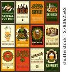 beer labels set with shamrock...   Shutterstock .eps vector #378362563