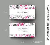 business card vector template... | Shutterstock .eps vector #378366943