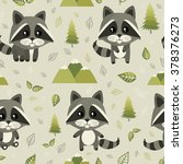 seamless pattern with cute... | Shutterstock .eps vector #378376273
