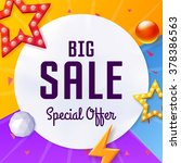 vector big sale cover with... | Shutterstock .eps vector #378386563