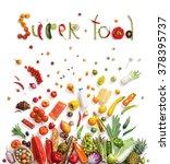 super food. studio photography... | Shutterstock . vector #378395737