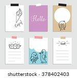set of creative 6 journaling... | Shutterstock .eps vector #378402403