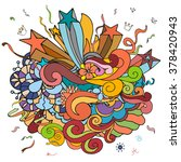 party doodle colorful theme... | Shutterstock .eps vector #378420943