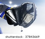ice hockey goalies glove - stock photo