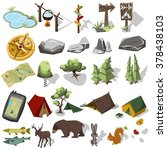 Isometric 3d Forest Hiking...