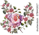 roses pattern  watercolor | Shutterstock . vector #378441817