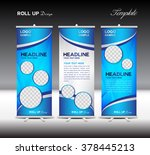 Blue Roll Up Banner Template...