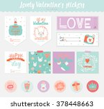 collection of valentines day... | Shutterstock .eps vector #378448663