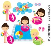 Pool Party Vector Illustration