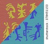 oriental symbols | Shutterstock . vector #378451153