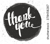 thank you lettering. hand... | Shutterstock .eps vector #378458287