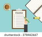 checklist clipboard. flat...   Shutterstock .eps vector #378462667