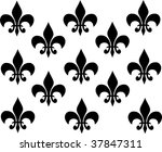 black ornaments on white... | Shutterstock . vector #37847311