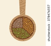 spoon with seeds infographic. | Shutterstock .eps vector #378476557