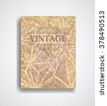 grunge vector brochure template ... | Shutterstock .eps vector #378490513