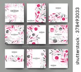 floral ornament vector brochure ... | Shutterstock .eps vector #378493033