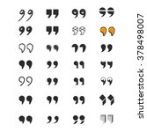set of various vector quotation ...   Shutterstock .eps vector #378498007