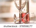 two glasses half full bottle... | Shutterstock . vector #378508177