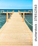wooden pier  | Shutterstock . vector #378512563