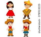 set of isolated children of... | Shutterstock .eps vector #378513223