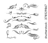 vector set of elegant curls and ...