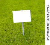 Sign On Grass Whith Isolated...