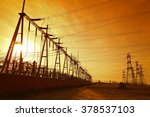 wire electrical energy at... | Shutterstock . vector #378537103
