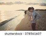running nausea.nauseous sick... | Shutterstock . vector #378561607