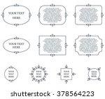 border frames calligraphic... | Shutterstock .eps vector #378564223