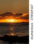Sunset Over The Tasman Sea Nea...