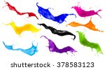 abstract color splash set... | Shutterstock . vector #378583123