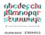 set of stylized  alphabet... | Shutterstock .eps vector #378594913