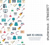 back to school concept. back to ... | Shutterstock .eps vector #378603877
