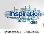 Inspiration Concept Word Cloud...