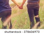 honeymoon couple vacation hands ... | Shutterstock . vector #378606973