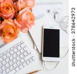 woman's modern workspace | Shutterstock . vector #378642973