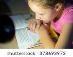 girl reading | Shutterstock . vector #378693973