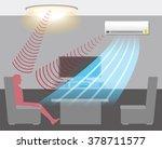 human detection sensor  air... | Shutterstock .eps vector #378711577