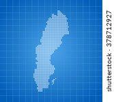 map of sweden | Shutterstock .eps vector #378712927