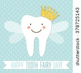 cute greeting card for tooth...