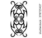 tattoo tribal vector design... | Shutterstock .eps vector #378725437