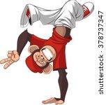 funny monkey dance | Shutterstock .eps vector #378737347