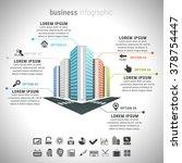 vector illustration of business ... | Shutterstock .eps vector #378754447