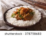 traditional beef madras with... | Shutterstock . vector #378758683