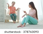 mother and her baby fell out | Shutterstock . vector #378763093