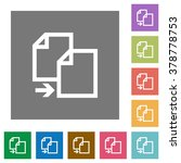 copy flat icon set on color...