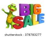 3d rendered alligator cartoon... | Shutterstock . vector #378783277