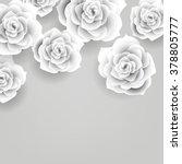 vector paper flower origami... | Shutterstock .eps vector #378805777