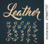 leather capitals and characters ... | Shutterstock .eps vector #378807757